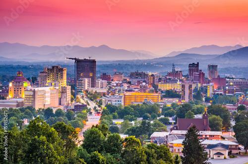 Fotografía  Asheville, North Carolina, USA skyline.