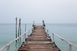 Wooden jetty and Sea