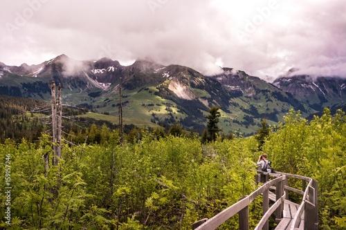 Photo  Fotograf im aufgeforsteten Naturschutzgebiet