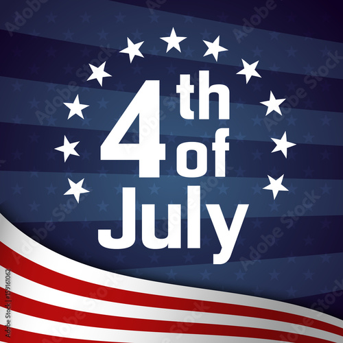 82440f409577b1 Fourth of July retro poster template - Buy this stock vector and ...