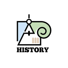 History Icon. Stylized Divider...