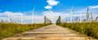 Leinwandbild Motiv Nordsee Windpark