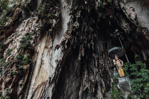 Hindu's divine statue in top of the gate of Batu Caves near Kuala Lumpur, Malays Wallpaper Mural