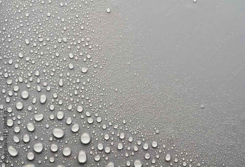 Fototapety, obrazy: water drops on a gray background