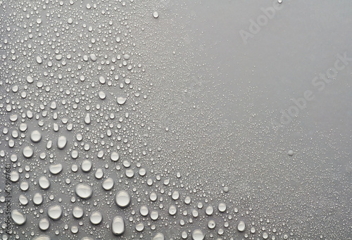 Fototapeta water drops on a gray background obraz