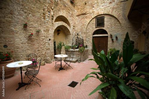 Small patio in italy © Sergii Mostovyi