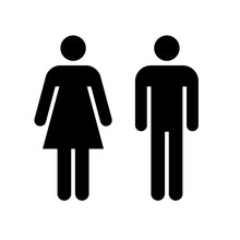 Man And Woman Icon. Black Icon...