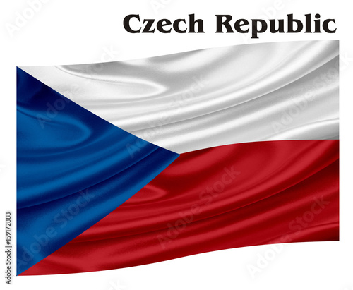Flag Country Symbol Object Fabric Color National Geography Cartoon Language Czech Republic Red Blue White Black Word Name Letters