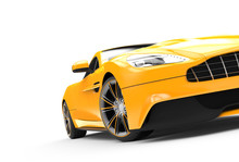 Yellow Sport Car Isolated On A...