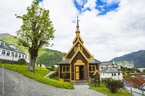 Photo  'English' church of St Olaf, Balestrand. Norway.