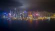 Night light in Hong Kong city