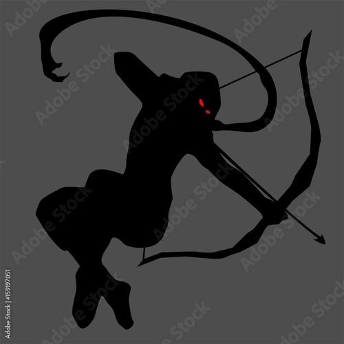 Photo  ninja silhouette