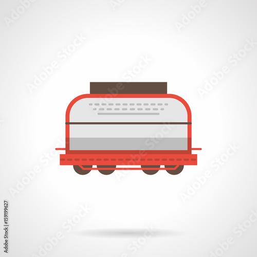 Fotografie, Obraz  Universal boxcar flat color vector icon