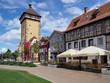 canvas print picture - Tübinger Tor in der Altstadt von Reutlingen