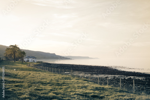 Morning mist over Bally Gally, Ireland Canvas Print