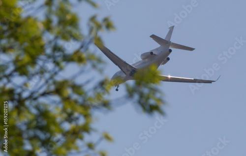 Ein Flugzeug im Flug Billede på lærred