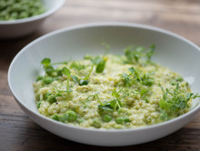 Risotto With Fresh Peas