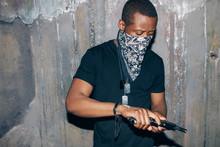 Black Gang Member Checks His W...
