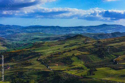 Deurstickers Asia land Lovely Mountains of Sicily. Late Spring early Summer Landscape in the hills of the island