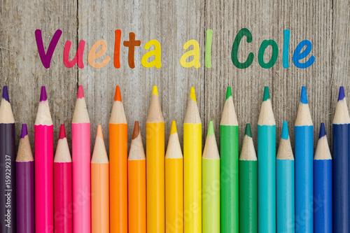Fotografija  Back to School message in Spanish
