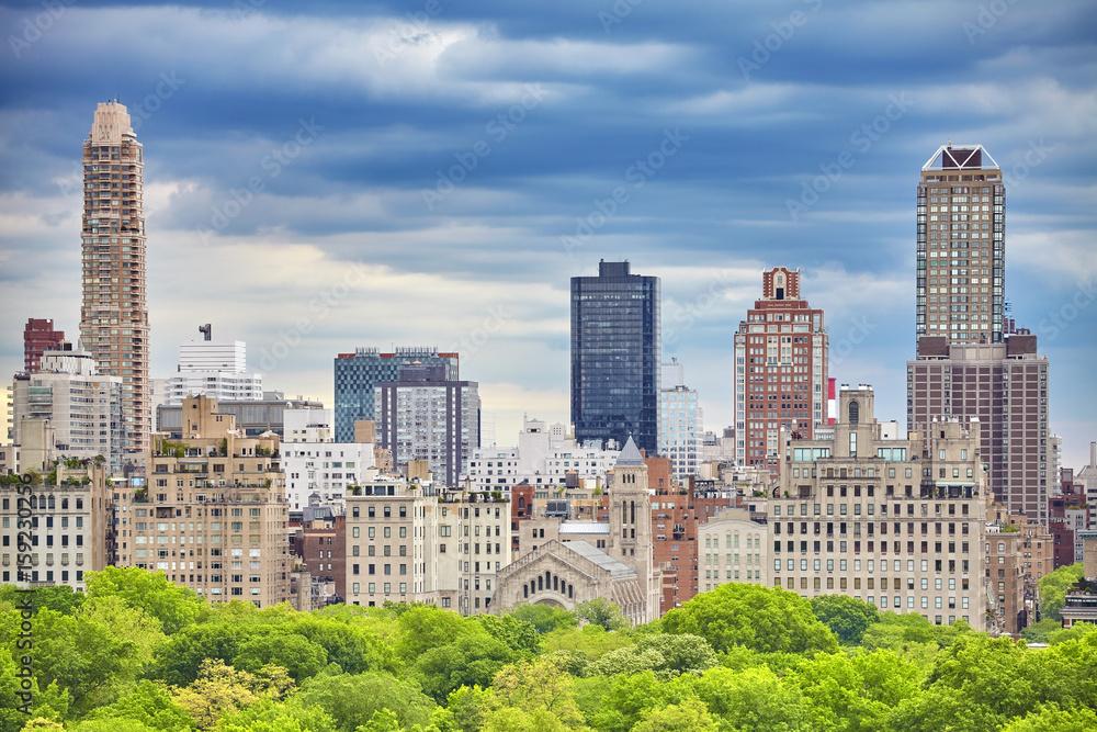 Fototapety, obrazy: Upper East Side of Manhattan seen over Central Park, New York City, USA.