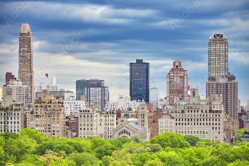 Poster New York Upper East Side of Manhattan seen over Central Park, New York City, USA.