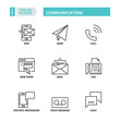 Thin line icons. Communication