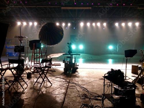 Obraz na plátně  BTS commercial shoot