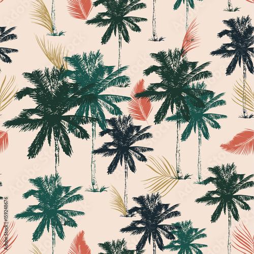 fototapeta na szkło Palm tree pattern seamless in simple style vector illustration