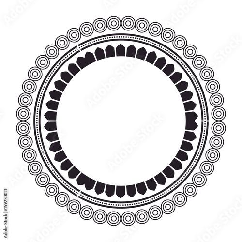 In de dag Boho Stijl circular lace mandala style vector illustration design