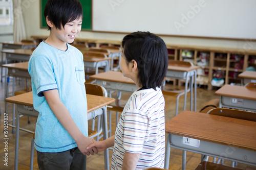 Vászonkép 教室の小学生