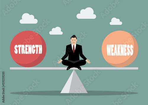 Fotografia  Balancing between strength and weakness
