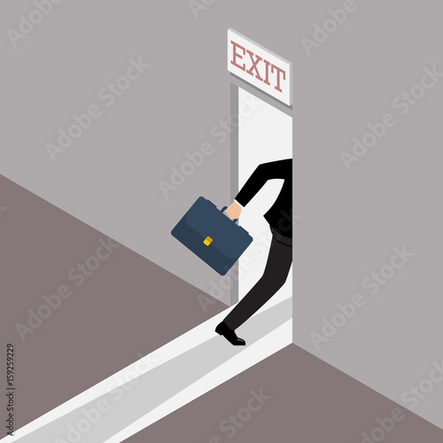 Business solution or exit strategy Wall mural