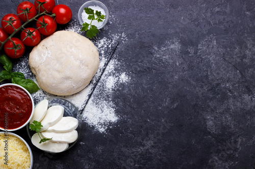Raw dough for pizza Wallpaper Mural