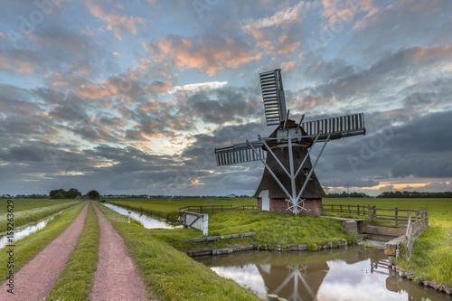 Garden Poster Mills Wooden windmill road