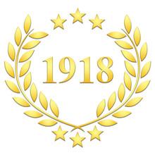 Lauriers 3 étoiles 1918 Sur Fond Blanc