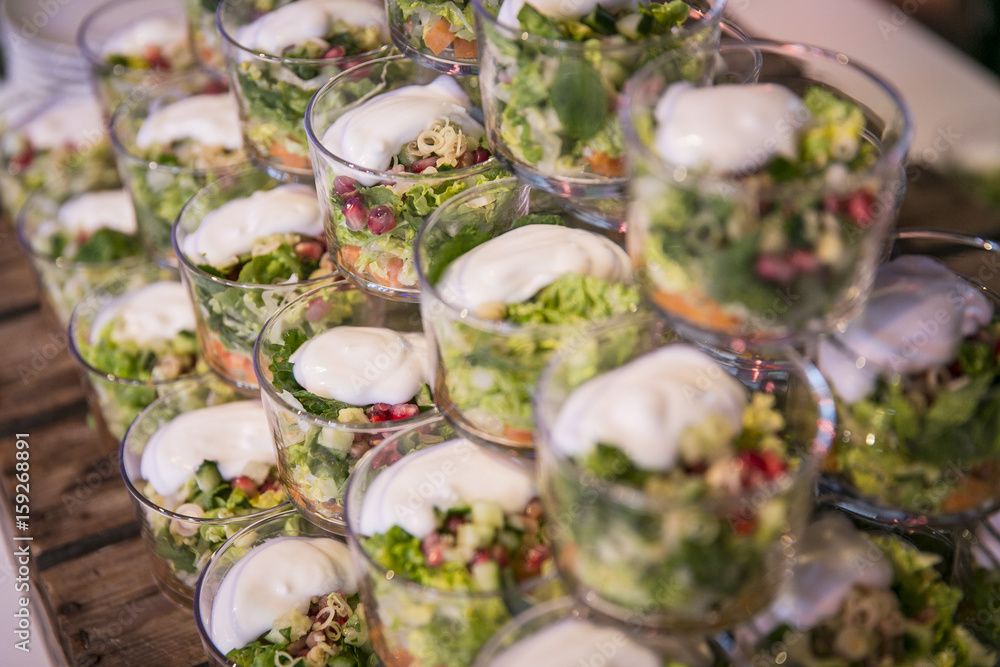Catering / Salat im Glas mit Dressing Poster | Sold at Europosters