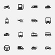 Set Of 16 Editable Transport Icons. Includes Symbols Such As Cable Railway, Tour Bus, Transportation And More. Can Be Used For Web, Mobile, UI And Infographic Design.
