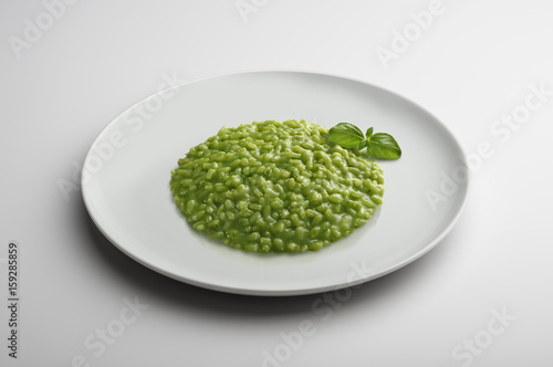Risotto dish with Pesto to Genoese