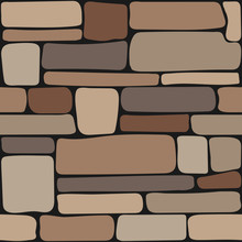 Stones Texture. Seamless Stone Wall, Brick Background Texture