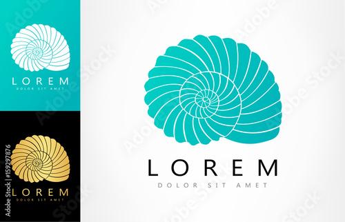 Stampa su Tela Shell Logo. Mollusk vector