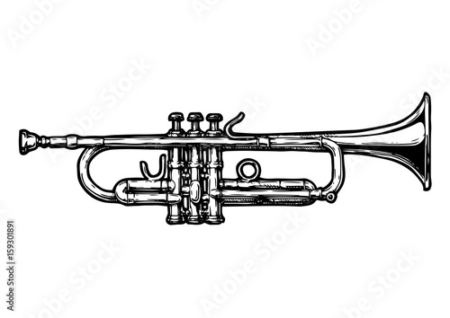 Slika na platnu illustration of trumpet