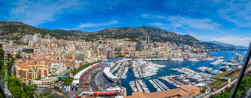 In de dag F1 Monaco F1 Panorama HDRLook