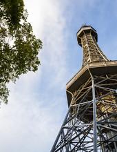 Petrin Lookout Tower At Petrin Hill, Prague, Czech Republic.