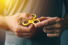 Yellow Fidget Spinner In Male ...