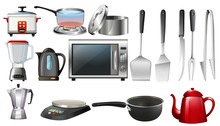 Kitchen Utencils And Electronic Devices