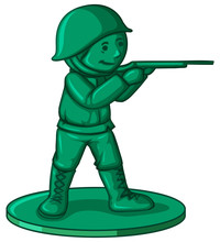 Soldier Toy In Green Color