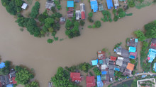 Aerial View Of Flood