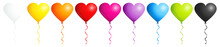 Border 9 Balloons Hearts Color