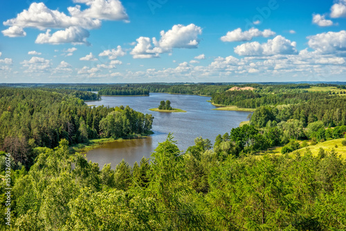 Poster Piscine Masurian Lake District, Landscape lake Jedzelewo, Stare Juchy